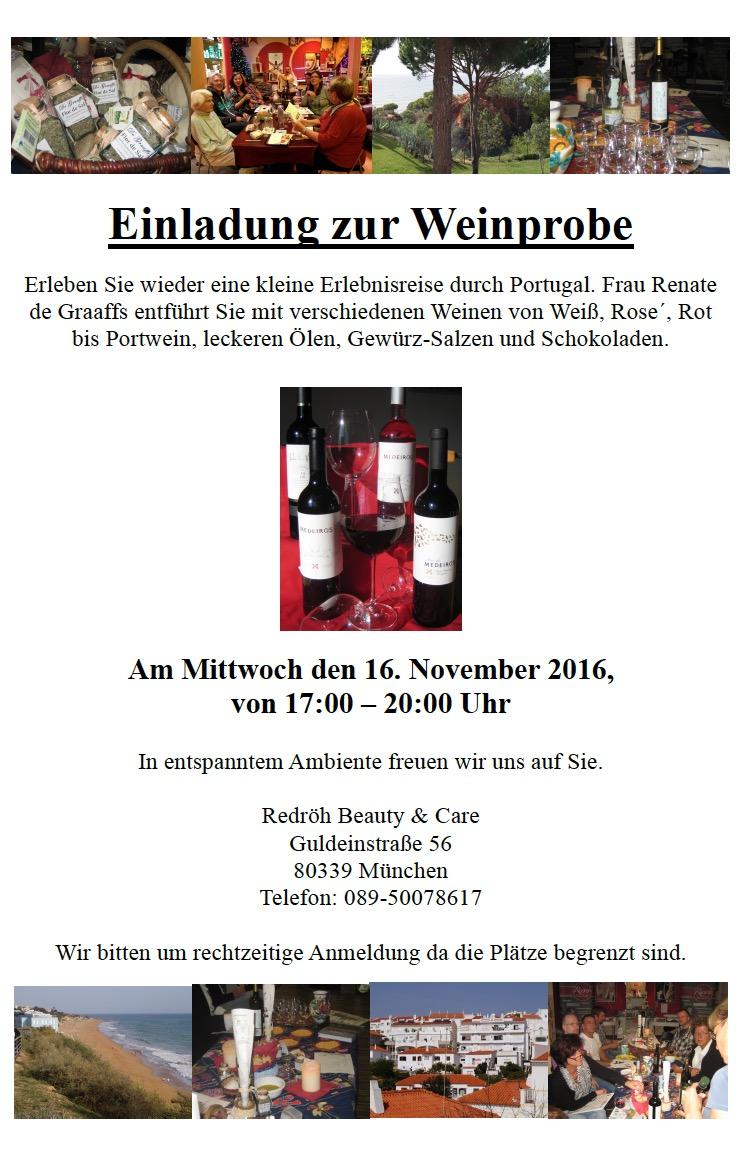 Weinprobe München bei Redröh