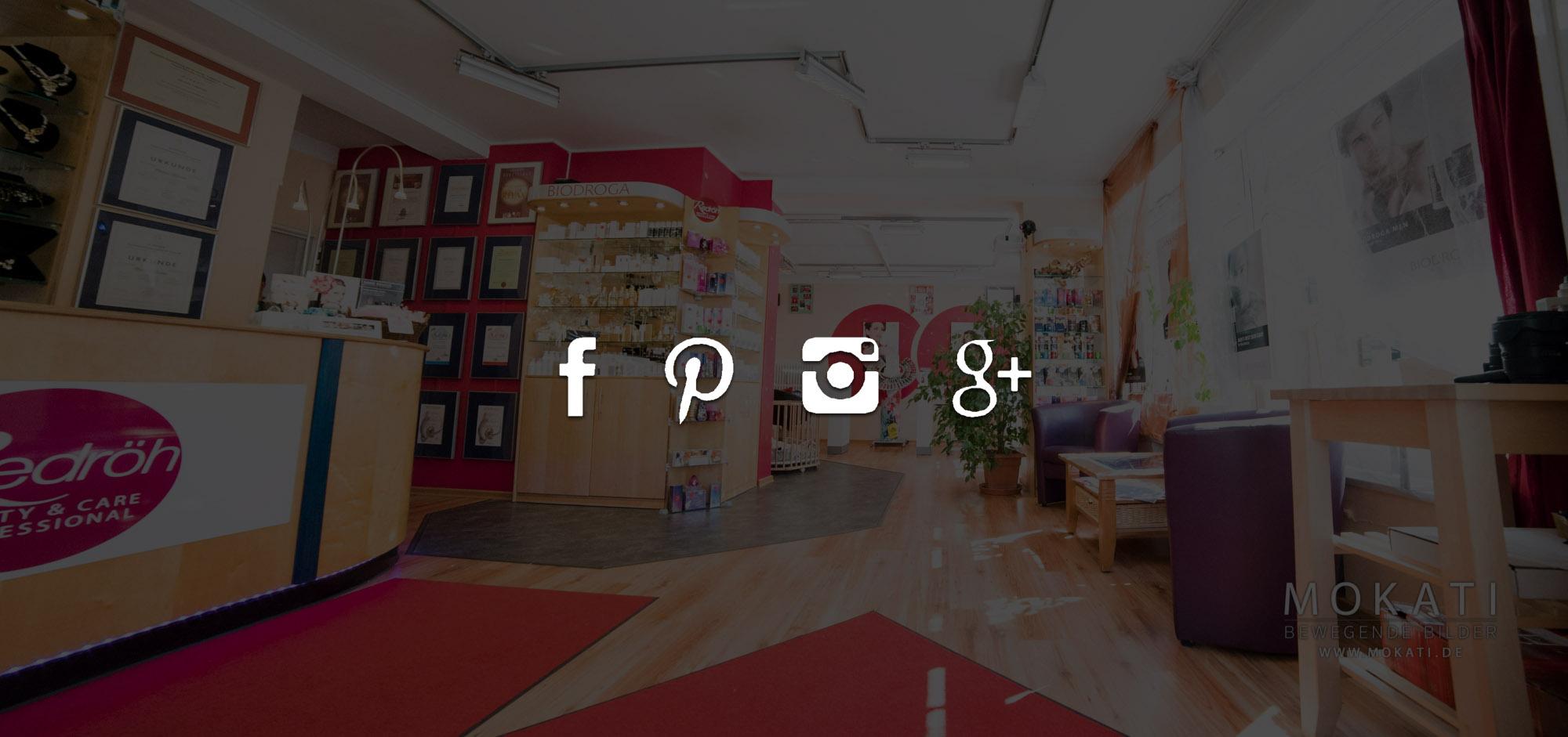 Redröh auf Instagram, Facebook, Google+ und Pinterest